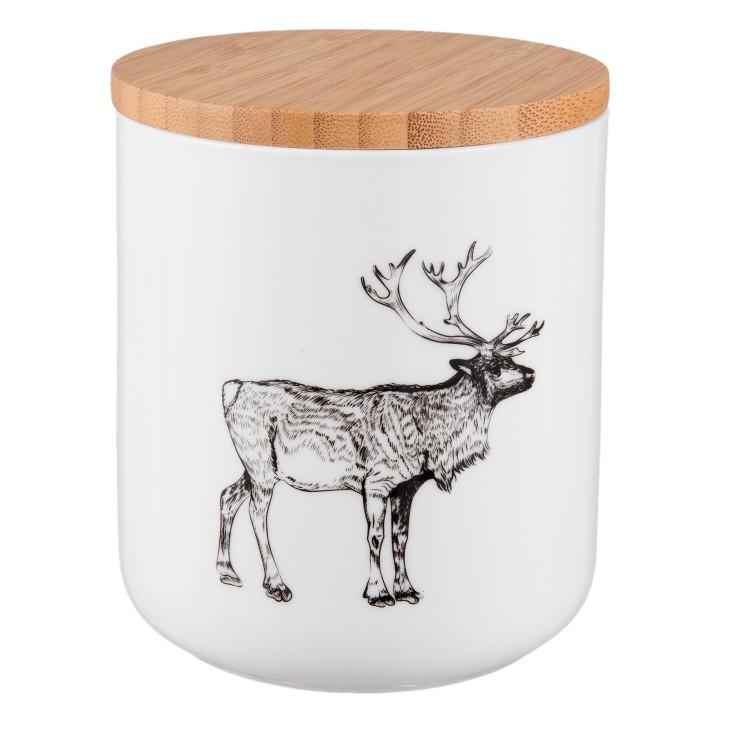 Pojemnik ceramiczny z jeleniem Clayre & Eef 6CE0729
