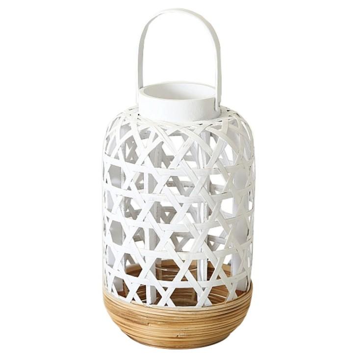 Lampion bambusowy biały MAURITIUS Boltze 1012817