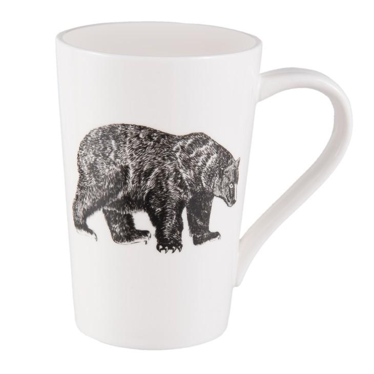 Kubek ceramiczny z motywem niedźwiedzia Clayre & Eef 6CEMU0050