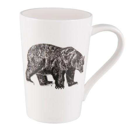 Kubek ceramiczny z motywem niedźwiedzia