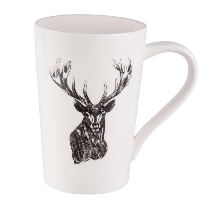 Kubek ceramiczny z motywem jelenia Clayre & Eef 6CEMU0048