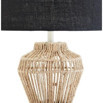 Lampa stołowa AKKA, jutowa, lniana, metalowa 61 cm