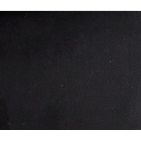 Fotel tapicerowany VELVET, czarny, z metalową podstawą