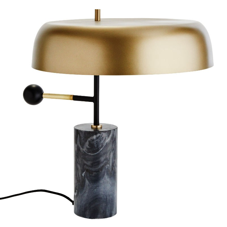 Lampa stołowa MARBLE, mosiężna, marmurowa Madam Stoltz FD2874