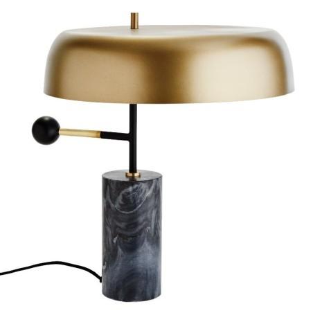 Lampa stołowa MARBLE, mosiężna, marmurowa