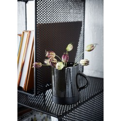 Półki wiszące, metalowe regały wiszące, czarne, zestaw 3 sztuki
