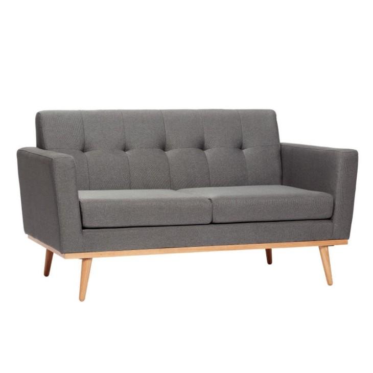 Sofa FABRIC tapicerowana szara 145 cm Hubsch 100201