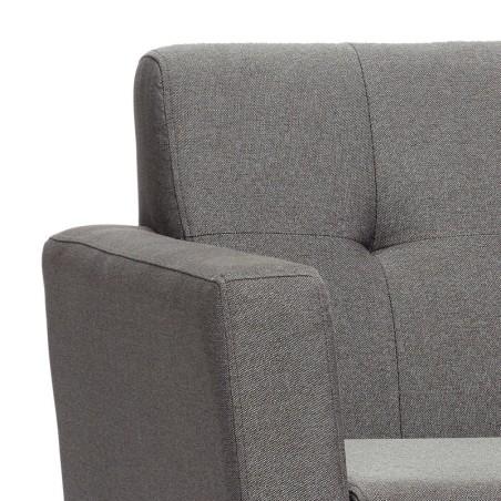 Sofa FABRIC tapicerowana szara 145 cm