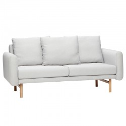 Sofa FOR 2 PEOPLE tapicerowana szara, 161 cm