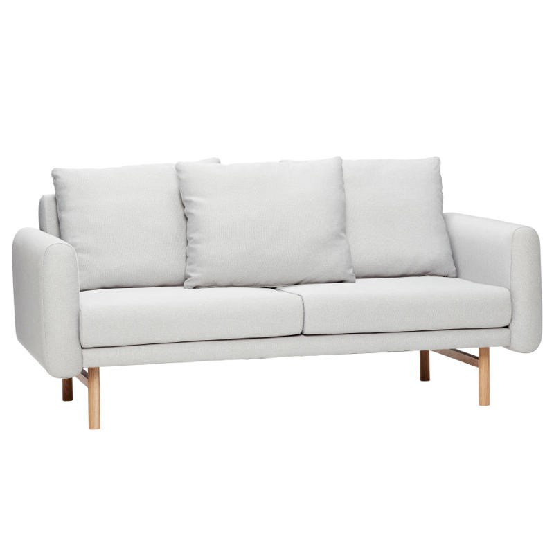Sofa FOR 2 PEOPLE tapicerowana szara, 161 cm Hubsch 100503