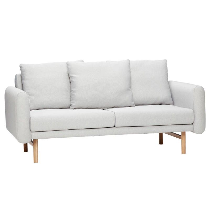 Sofa FOR 2 PEOPLE tapicerowana szara, 161 cm Hubsch 100503