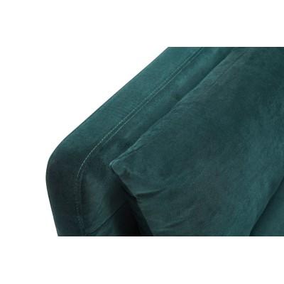 Sofa z dostawką VELOUR zielona