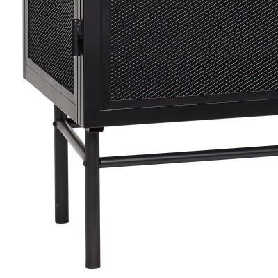Witryna dwudrzwiowa metalowa czarna 100 x 150 cm
