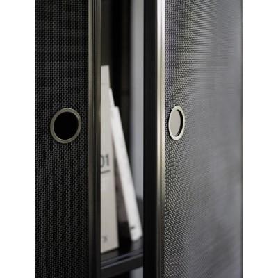 Witryna metalowa MESH czarna 80 x 150 cm