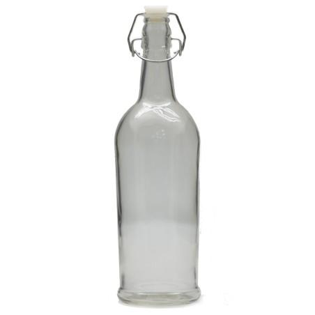 Ozdobna butelka z zapięciem mechanicznym ELEGANCE 1litr