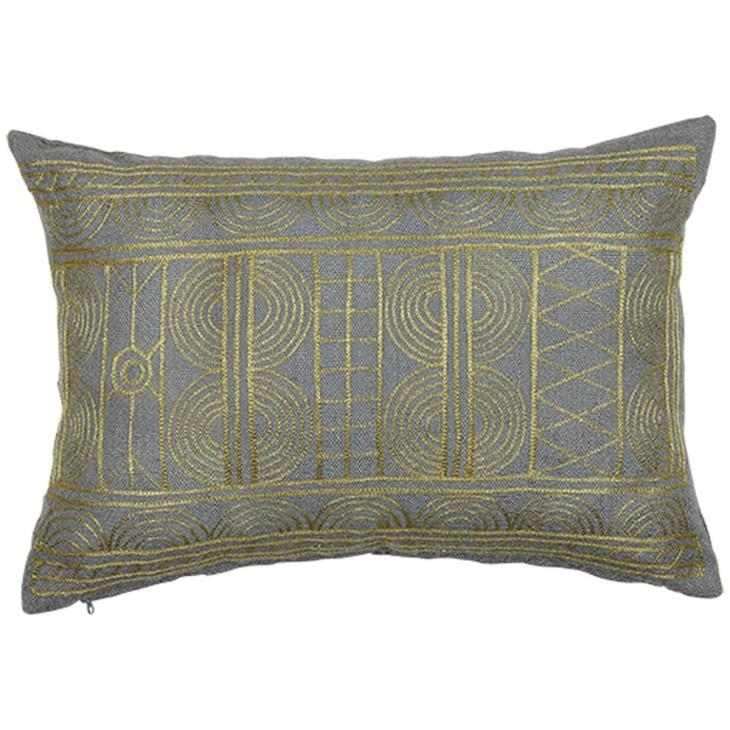 Poduszka ogrodowa, poduszka tarasowa DESERT NOON szaro-złota, 40x60cm LIV-INTERIOR 158.200.39