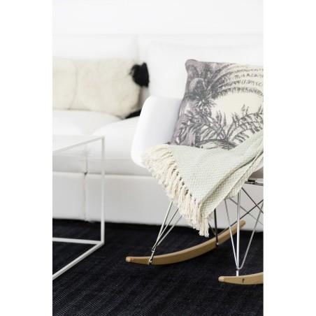 Poduszka COCONUT z jedwabiu szara 45 x 45 cm