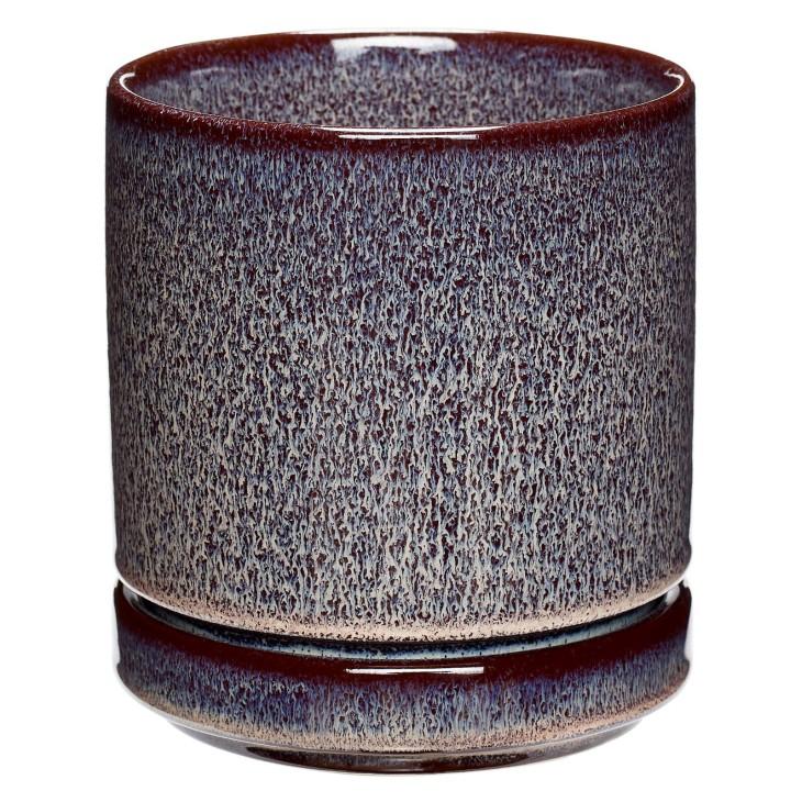 Doniczka ceramiczna PLUM śliwkowa 12 x 14 cm Hubsch 670805.1