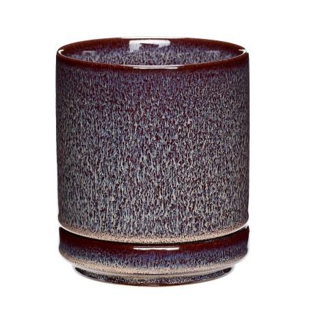 Doniczka ceramiczna PLUM śliwkowa 11 x 13 cm