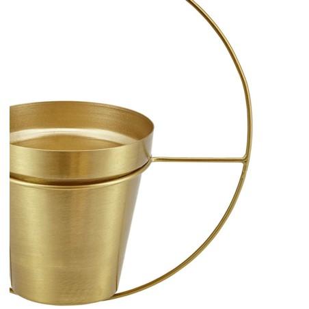 Doniczka wisząca RING metalowa, złota