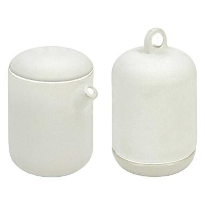 Mlecznik i cukierniczka zestaw ceramiczny biały