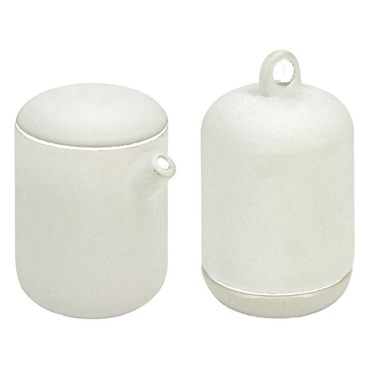 Mlecznik i cukierniczka zestaw ceramiczny biały LIV-INTERIOR 120.600.11
