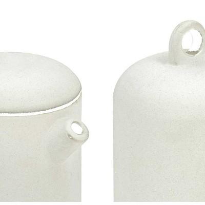 Cukiernica i mlecznik mały zestaw porcelanowy biały