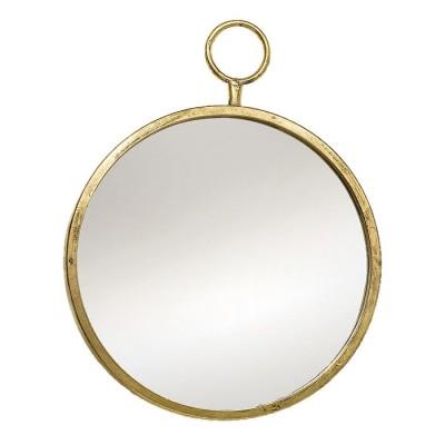 Lustro metalowe PRADO 40 cm antyczne złoto