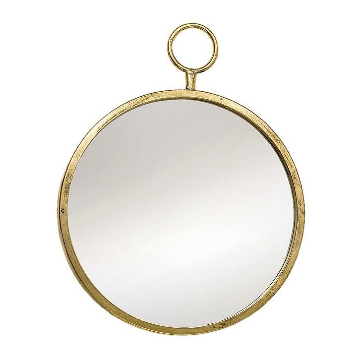 Lustro metalowe PRADO 40 cm antyczne złoto Boltze 1002543