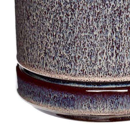 Doniczka ceramiczna PLUM śliwkowa 12 x 14 cm