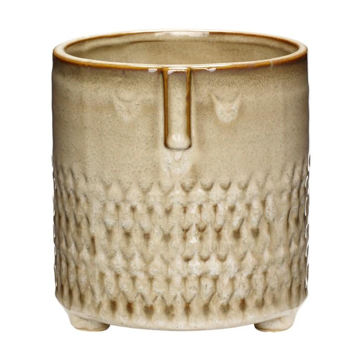 Doniczka ceramiczna AZTEC beżowa 14 x 15 cm Hubsch 670809.1