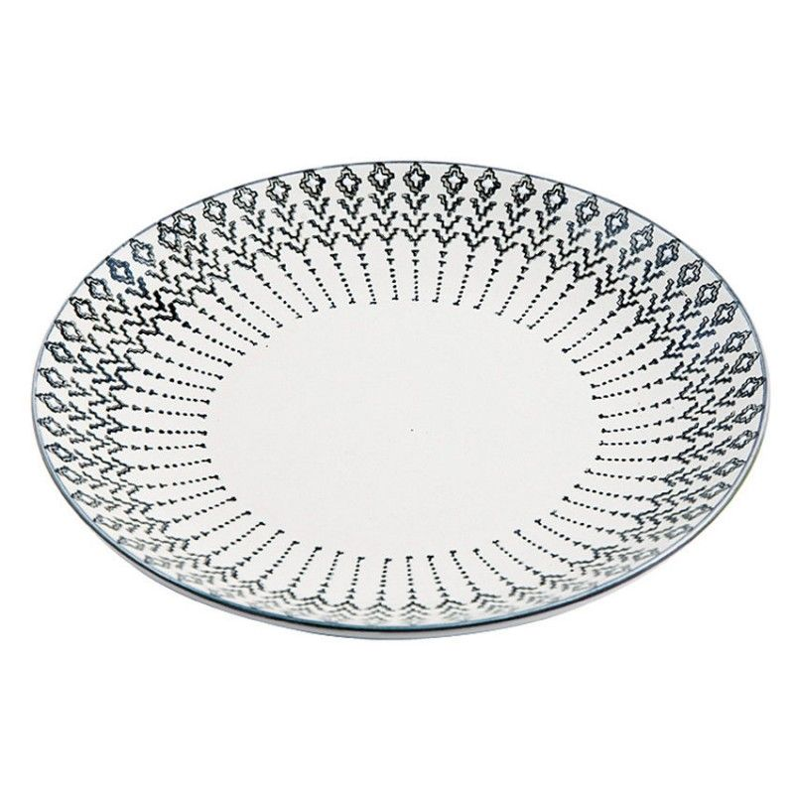 Talerz ozdobny ceramiczny z czarnym wzorem 20.5 cm LIV-INTERIOR 120,500.2
