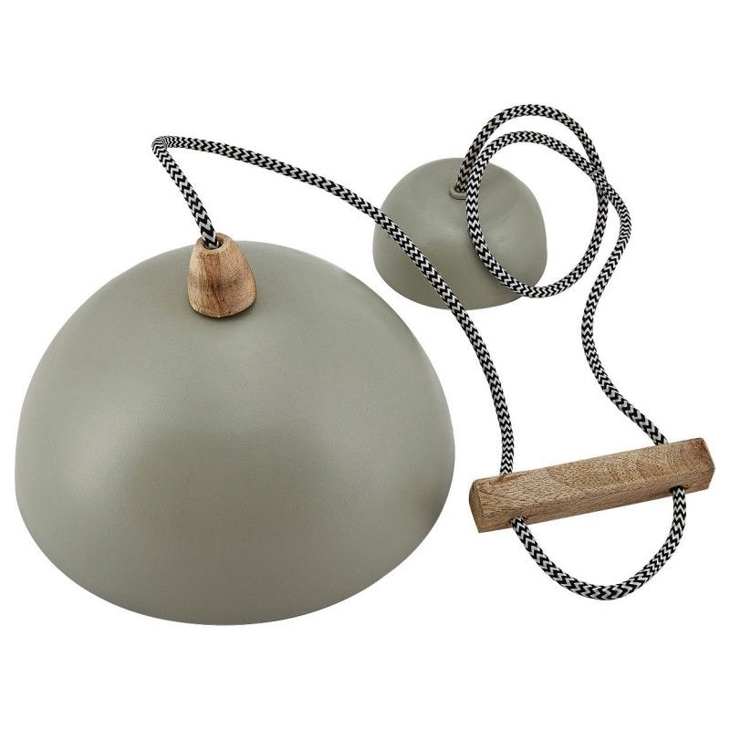 Lampa wisząca metalowa SAGE szaro miętowa 23 cm LIV-INTERIOR 119.100.55
