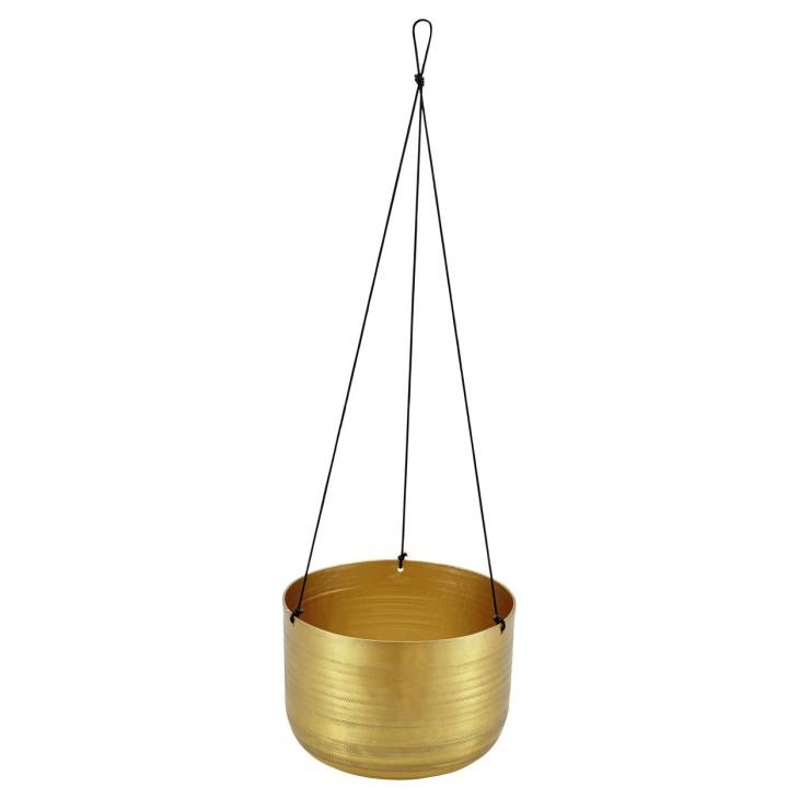 Doniczka wisząca złota ze wzorem LIV-INTERIOR 112.100.94
