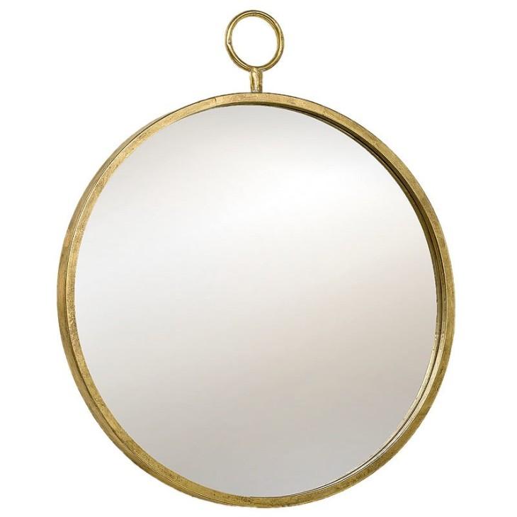 Lustro metalowe PRADO antyczne złoto 55 cm Boltze 1002544