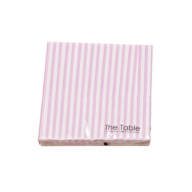 Serwetki papierowe MIXIT różowe w paski Boltze 1002923A