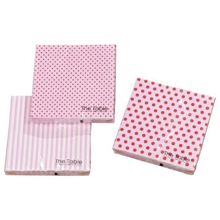 Serwetki papierowe MIXIT różowe w paski