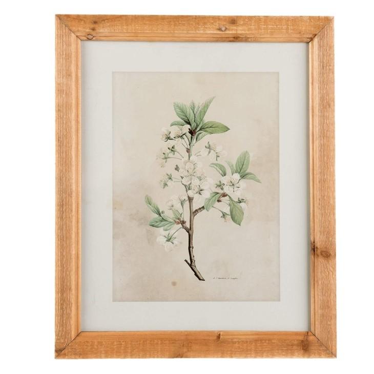 Grafika obraz na ścianę kwiaty w drewnianej ramie II Clayre & Eef 63867
