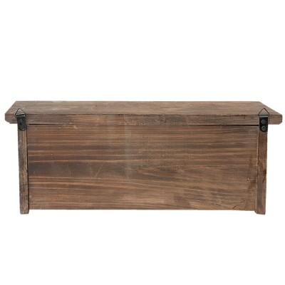Wieszak ścienny rustykalny drewniany 45x17cm