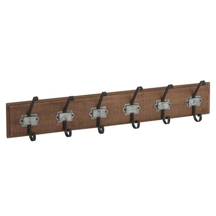Wieszak drewniany ścienny WOOD 84cm J-LINE 87990