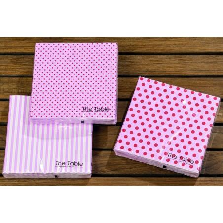 Serwetki papierowe MIXIT duże różowe kropki