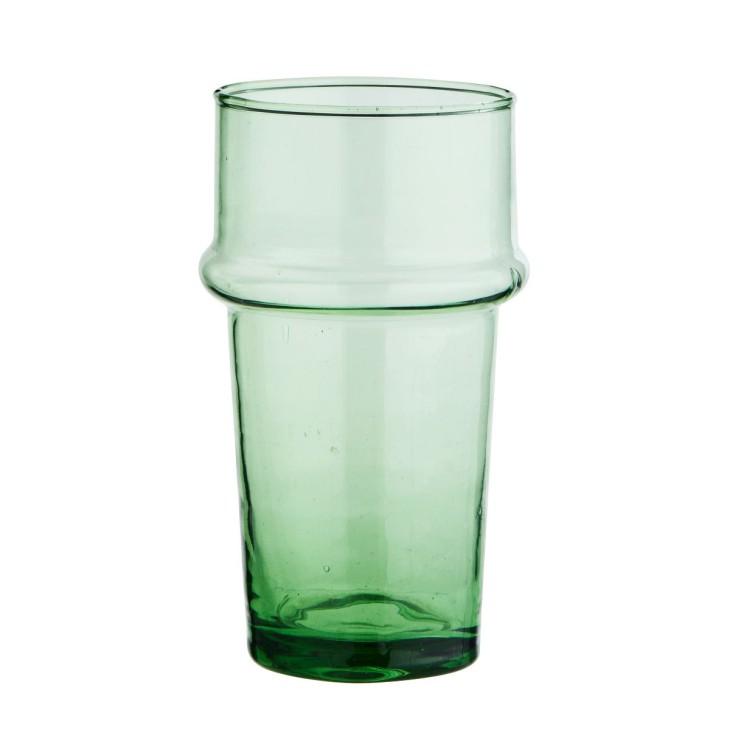Szklanka zielona BELDI ze szkła z recyklingu Madam Stoltz LVB-48V