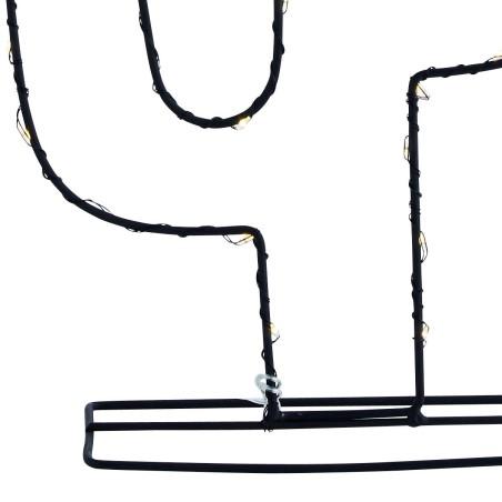 Lampa stołowa CACTUS BLACK led, metalowa, czarna