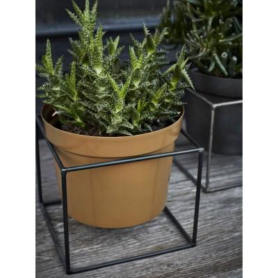 Donica metalowa na stojaku, duża, ogrodowa osłonka na doniczkę, kwietnik