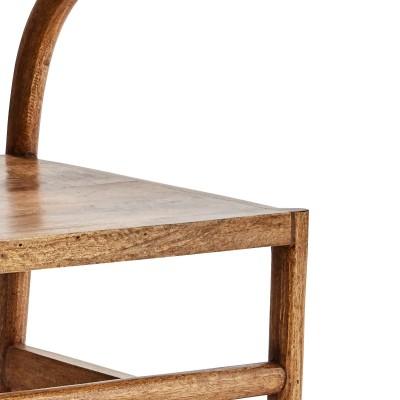 Krzesło WOODEN CHAIR, z oparciem do jadalni, do kuchni, drewno mango