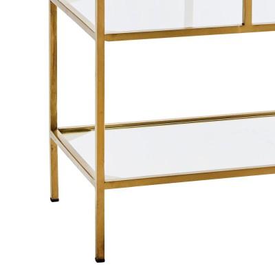 Regał stojący ANTIQUE, półka stojąca metalowa, konsola, szklana