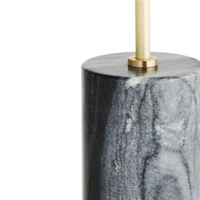 Lampa stołowa AVANT-GARDE marmurowa, mosiądz, czarna