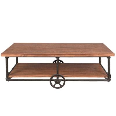 Stolik kawowy INDUSTRIAL drewniany, metalowy