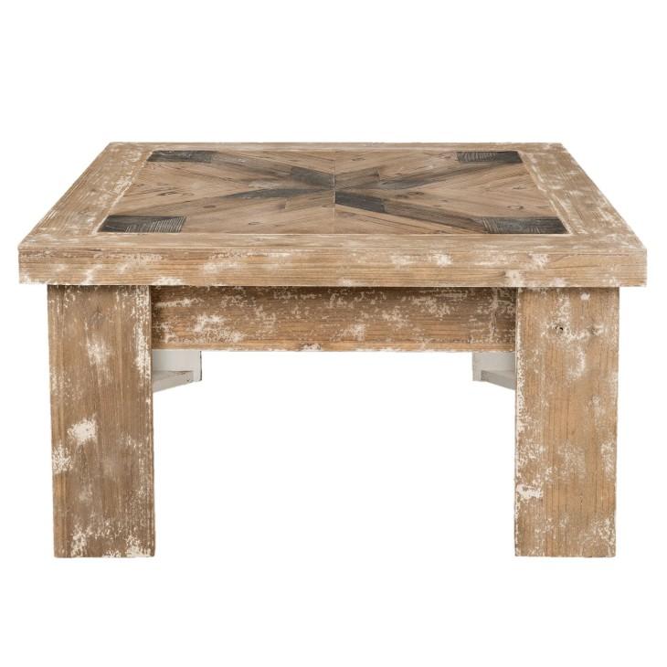 Stolik kawowy WOOD drewniany, przecierany Clayre & Eef 5H0354