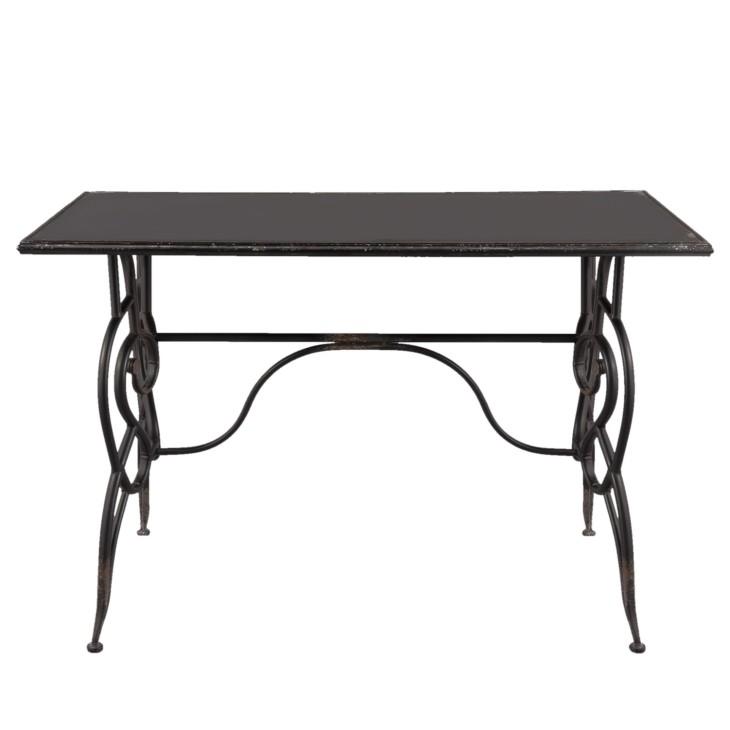 Stół DISTRESSED metalowy, czarny, gięty, toaletka, konsola, biurko Clayre & Eef 5Y0379